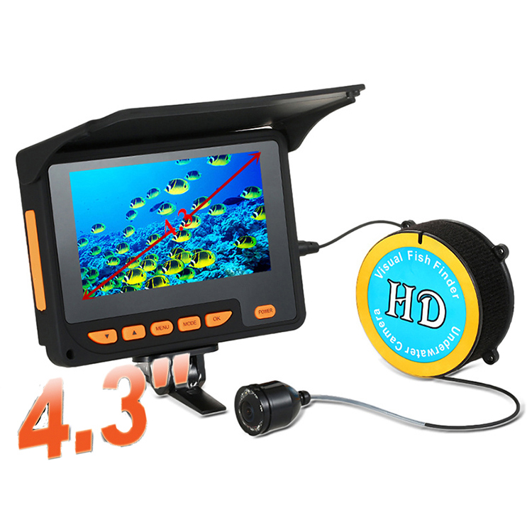 "4.3"" HD Monitor 10 pcs infrared lights underwater waterproof fish finder video camera"