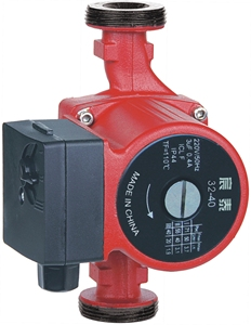small quick hot water circulating pump in floor heating system