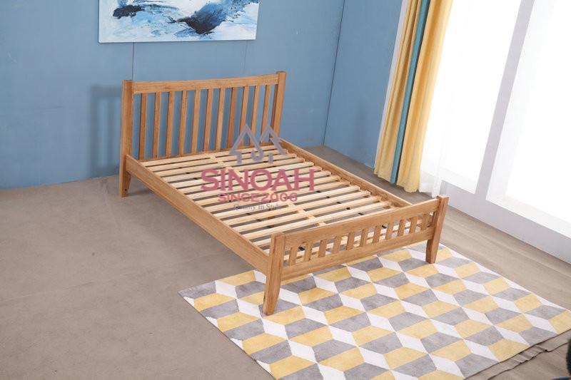 Quercia rustico singola doppia letto matrimoniale telaio struttura in legno massello letto - Telaio del letto ...
