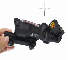 SPINA 4x32 acog Scope sight with Red Fiber Optics hunting rifle with mini red dot