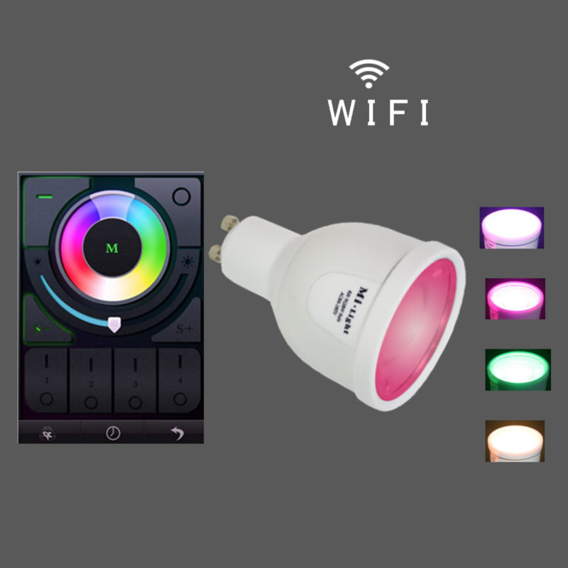 Wifi Control Bulb Led Gu10 63mm,Remote Control Gu10 Led Sensor ...