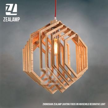 Nordic Creative Brief Holz Pendelleuchten Sechseck Form Wohnzimmer  Schlafzimmer Leuchten Urlaub Leben Weihnachtsbeleuchtung