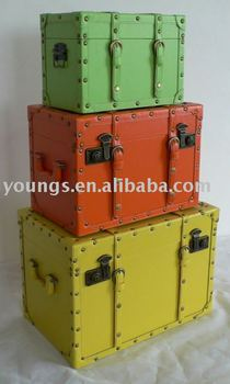 decorative storage wooden boxestrunks and suitcase - Decorative Storage Trunks