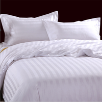 100% cotton white fabric Dubai hotel bed sheet quilt cover bedding set