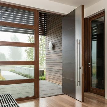 Bevorzugt China Herstellung Französisch Holz Tür Design Holz Flush Glas EU02