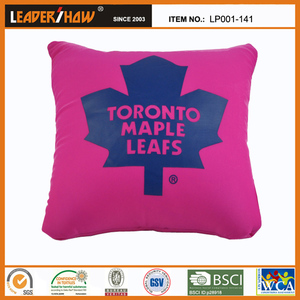 Maple Leaf graphic beads foam square floor cushion seating sofa pillow