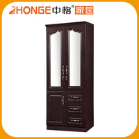 9438 wardrobe closet glass sliding door/2 door wardrobe/folding portable wardrobe