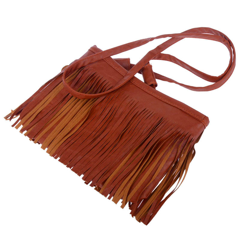 bolsas de hombro Tassel Mini Women Bags Ladies Small Casual PU Leather Fringe Satchel Crossbody Messenger Shoulder Bags Bolso