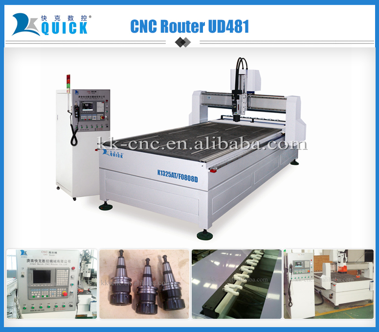 hot sale cnc router machine with auto tool changer,UD481,9kw Italy HSD spindle