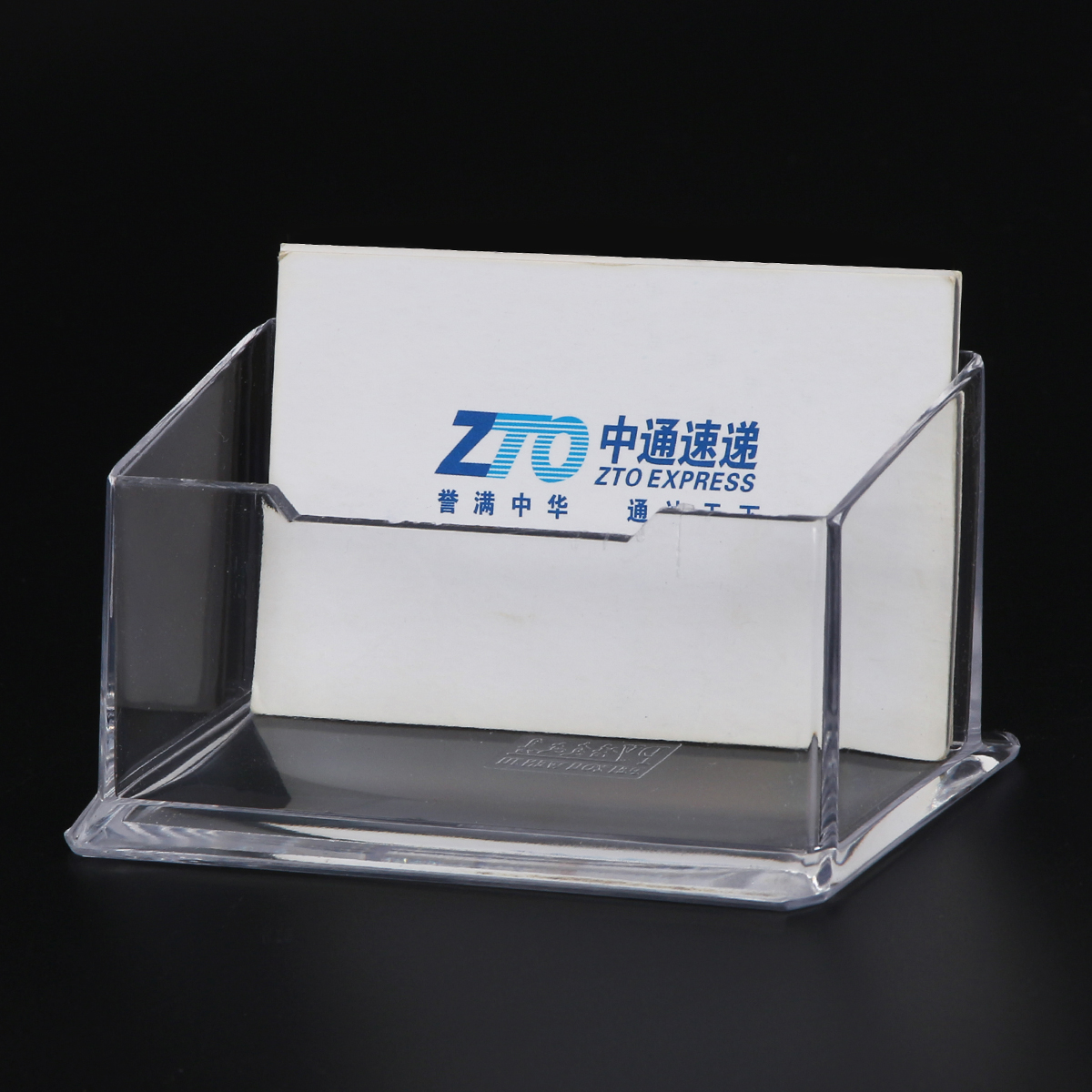 Incentives made custom shape tabletop plastic office use acrylic busniess card case