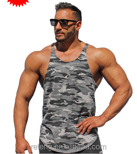 Men's Y-back Camouflag Tank Tops Original Camouflag Singlet Workout Tank Top Bodybuilding Singlet