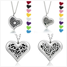 Handmade top sale stainless steel necklace pendant perfume diffuser magnetic heart shape lockets