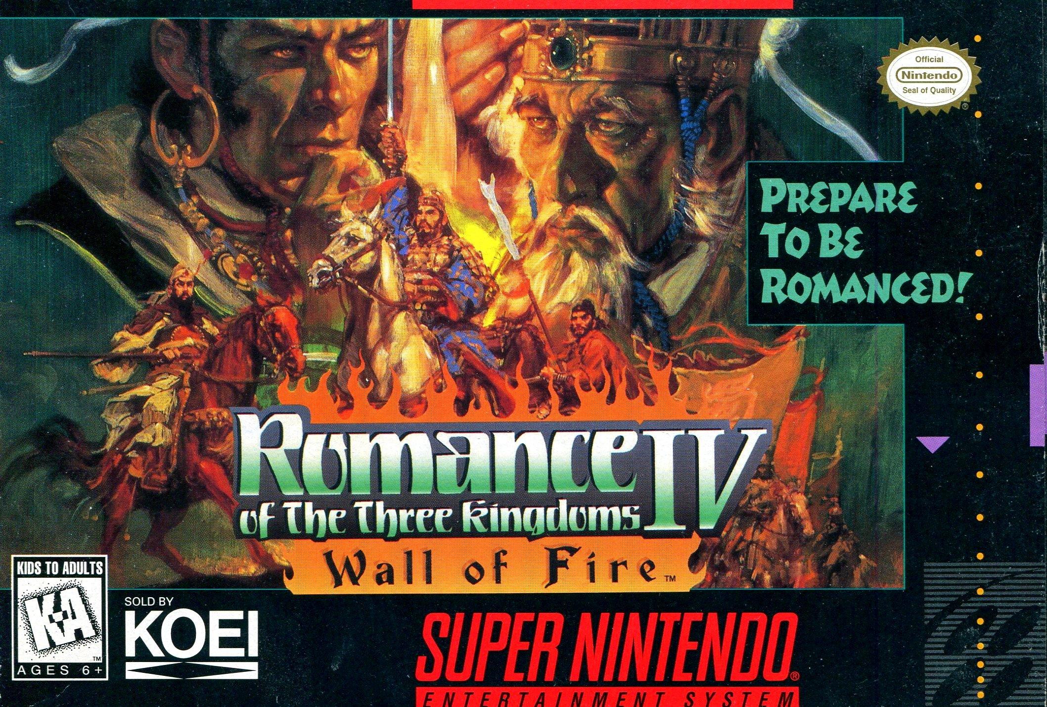 Romance of the Three Kingdoms IV: Wall of Fire - Nintendo Super NES
