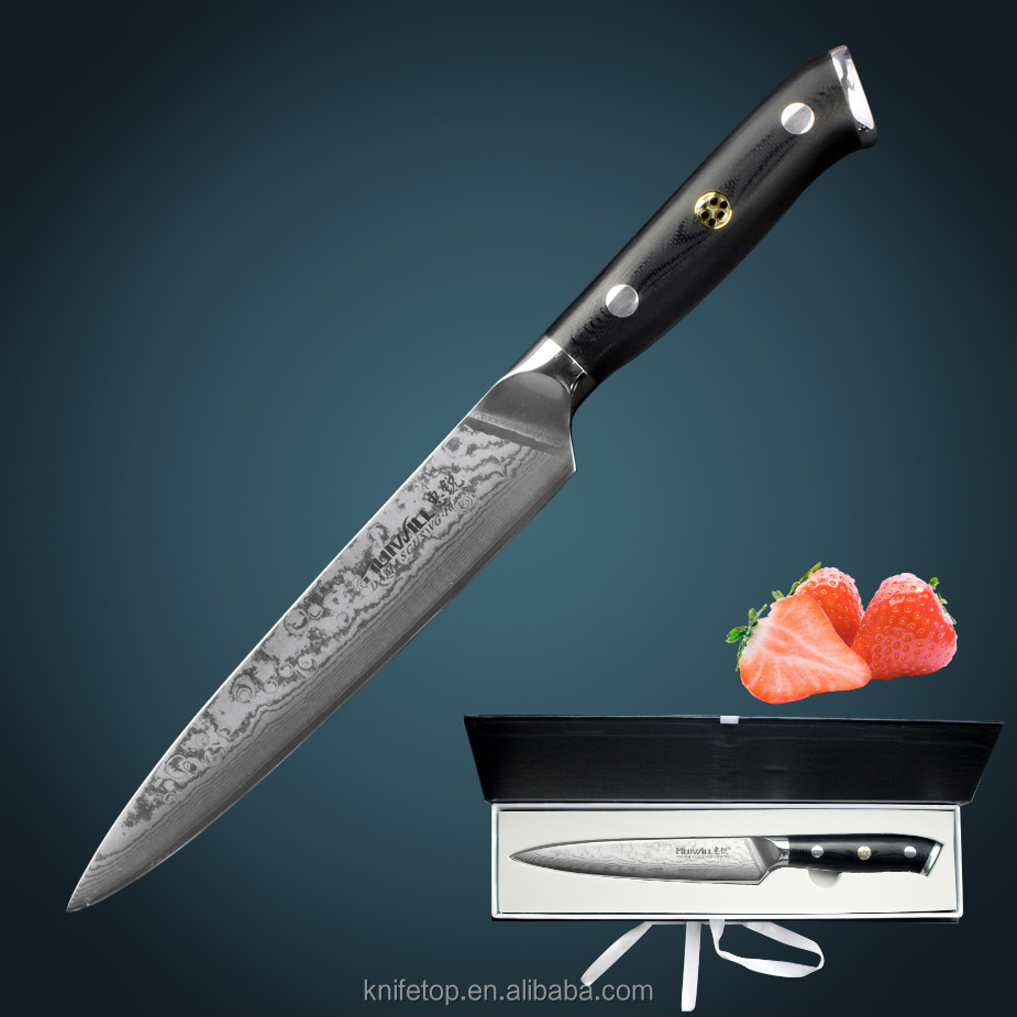 Huiwill Brand New Damascus Utility Knives With Japanese G10 Handle ...