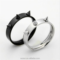 Yiwu Aceon Stainless Steel Hardware Self defense Punk Spike Ring