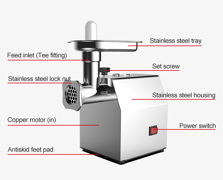 Factory direct sale  electric International meat grinder/Meat processing machinery/Meat grinder for banquet