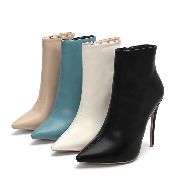Fashion High Heel Women Shoes Winter Short Ankle Boots for Ladies