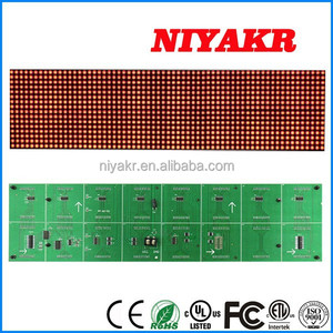 Niykar Factory Price Indoor F5 P7.625 488mmx122mm 64x16 Red Color Dot Matrix LED Display Module