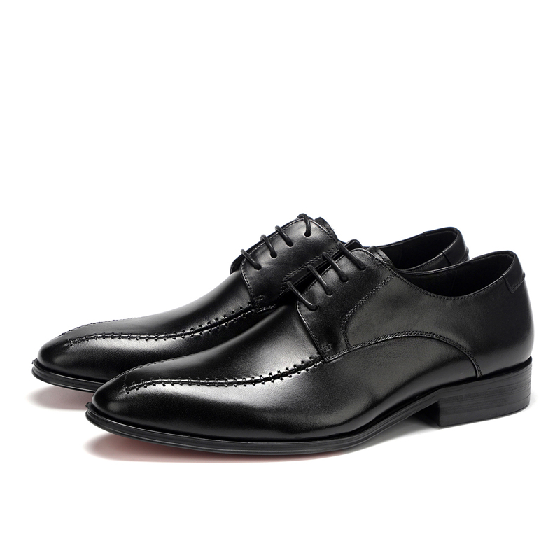 up leather lace wholesale genuine quality formal leather CZ23982b wedding good Branded mens shoes black UxqwCz7g