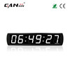 [Ganxin]4'' 6 Digits White Led Digital Race Timing System Clock in HH:MM:SS Format Led Alarm Wall Digital Electronic Clock