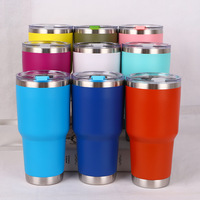 Custom logo 18/8 Double walled Vacuum Thermal Glass wine tumbler Stainless steel Insulated 30 oz tumbler