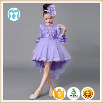 39bc1d482 Latest Gown Designs Alibaba Wedding Purple Half Sleeve Dress Baby ...