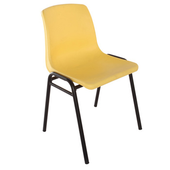 Steel frame dining plastic chair for wholesale