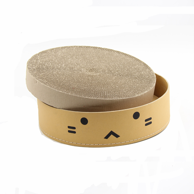 Round shape good qualtity double-deck manufactory cardboard cat bed