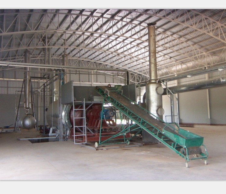 Pyrolysis gas generator/pyrolysis furnace in waste tire and plastic pyrolysis oil plant