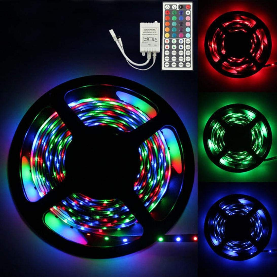 Gbell 3M RGB 3528 180 LED SMD Flexible Light Strip Lamp with 44 key IR Remote Controller for DIY Household Lights,for Theaters, Clubs, Shopping Malls, Festivals And Performances Decor