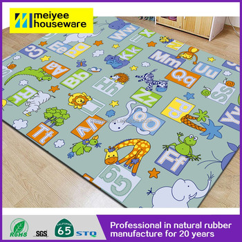 Custom Printing Card Baby Play Mat With Sides Colourful Crawling Rugs Educational Toys Activity