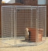 Made in China factory direct sale foldable large iron heavy duty dog cage with wheels
