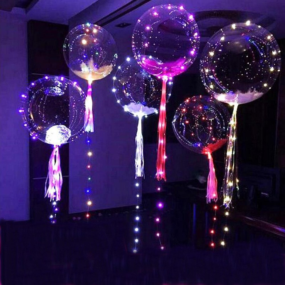 2017 Hot sale environment PVC latex LED ballon lights uniform color glossy for wedding party celebration decoration children toy