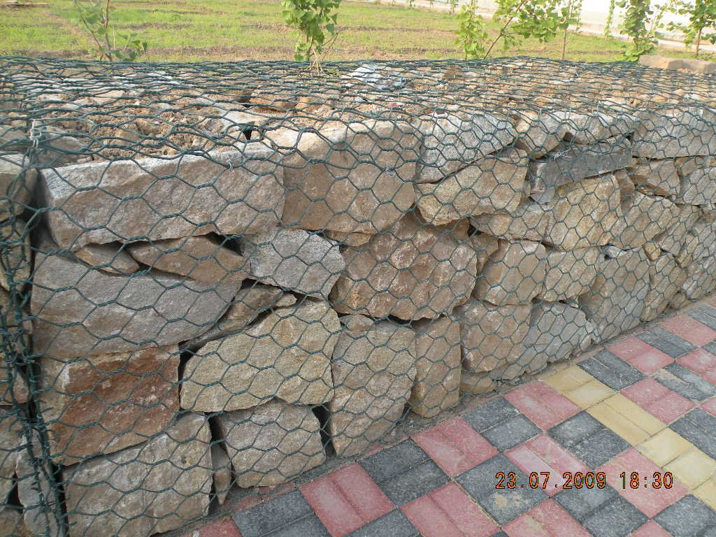 pvc coated or galfan anchorage gabion