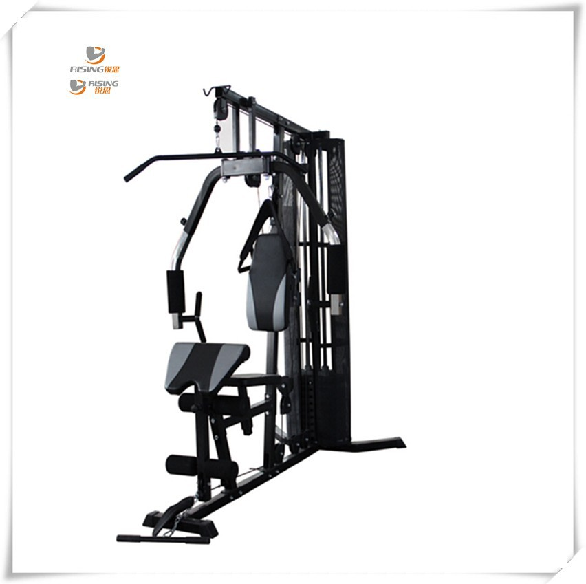 qj-hm0006 one station home gym with protecting net cover and 100lb plastic weight