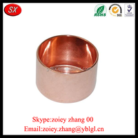 China Manufacturer Custom High Precision Red Bronze Pipe Fitting For Sale