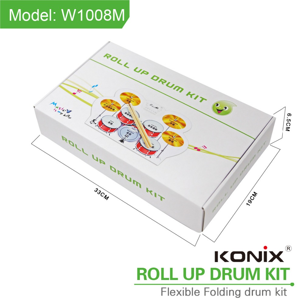 Electric Drum Kit For children With 9pads Colorful Roll Up Drum Kit