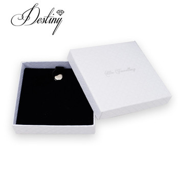 White jewelry gift box sparkle necklace and earring gift Jewelery