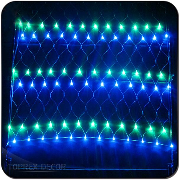 Custom Made Outdoor Wall Decoration Rgb Flash Led Fish Net Christmas Fishing Lighting Light For Outdoors