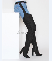 Sexy thigh high boots winter boots women thigh high boots with belts