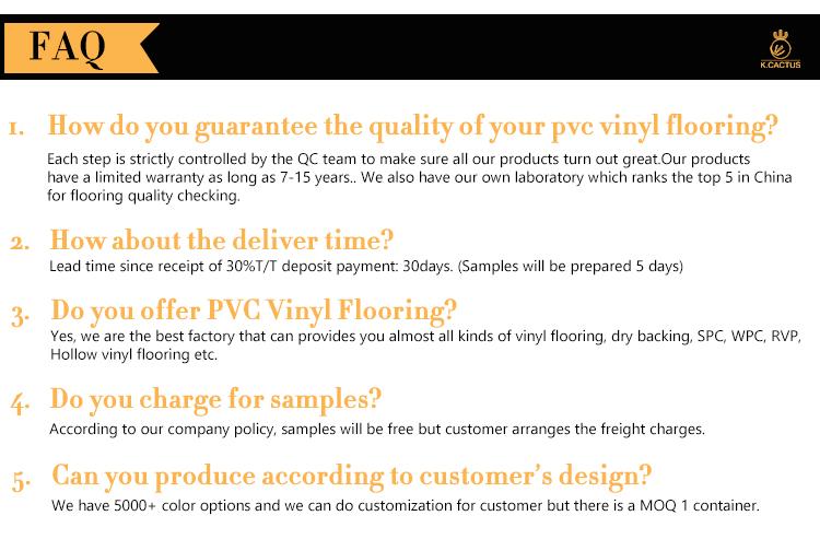 De lujo moderno de lujo piso de vinilo/baldosas de madera de PVC pisos/de suelos de Pvc tabla Foshan Manufacture