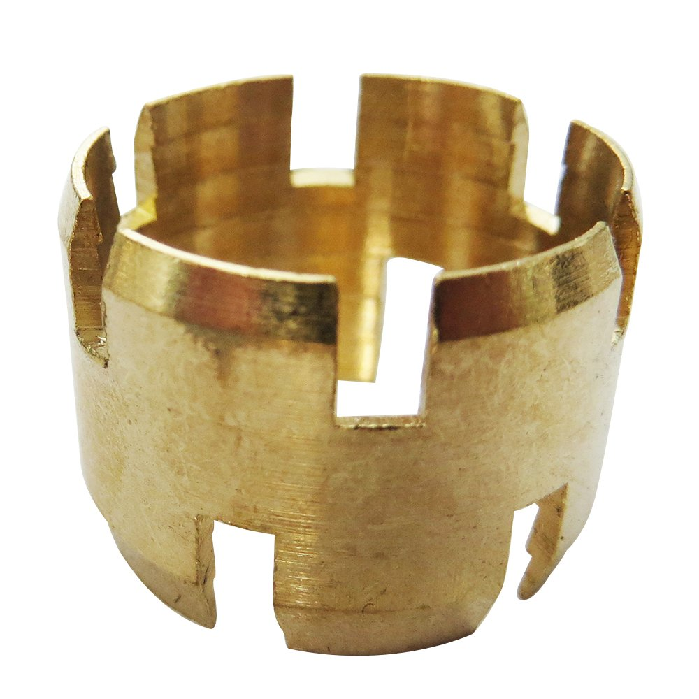"Legines Brass DOT Air Brake Hose Ends Fitting, Sleeve, 1/2"" OD Tubing, Pack of 5"