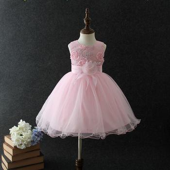 c9d292b3e Latest western dress patterns for girls pink Vietnam baby girls party wear  dress Princess flower summer