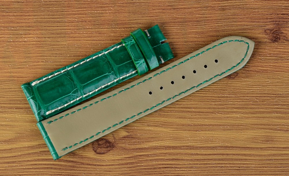 Women Fashion Crocodile Watch Band Genuine Leather Interchangeable Watch Strap Green