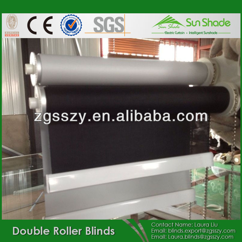 Double layer roller shade Day And Night Dual Roller Blinds Shades