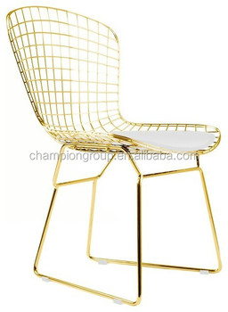 Harry Bertoia Wire Chair , Replica Bertoia Side Chairs Factory
