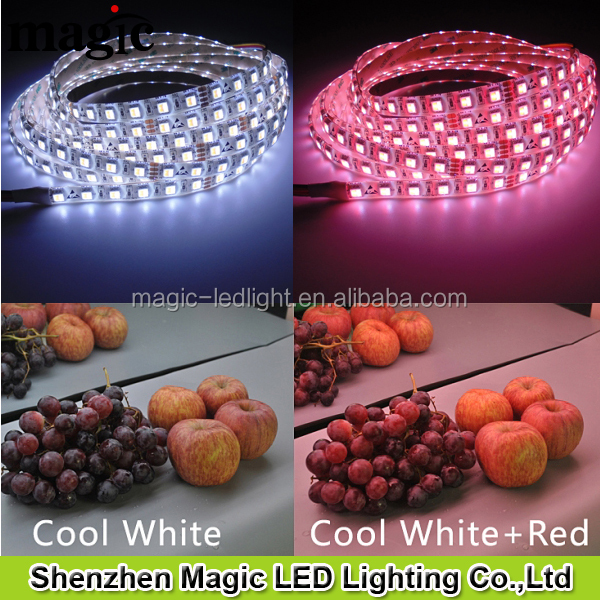 CRI>80 PW+RED+WW 3in1 Food Display food lighting LED Strip