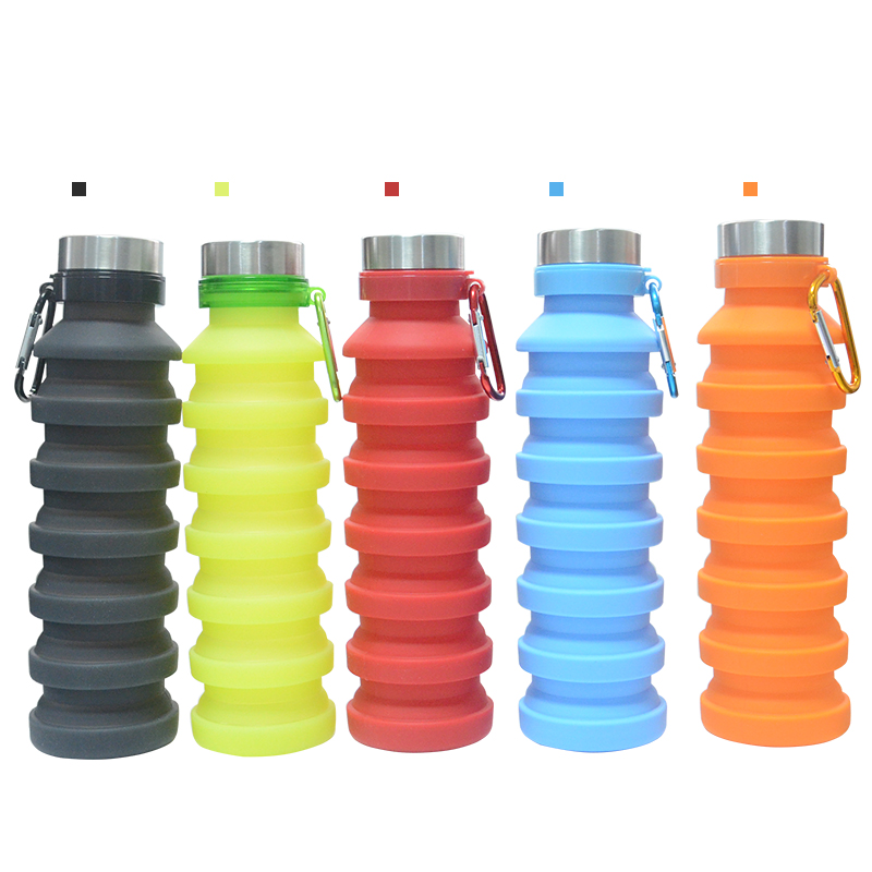 Best Selling Products FDA 550ml Outdoor Collapsible Silicone Sports Water <strong>Bottle</strong>