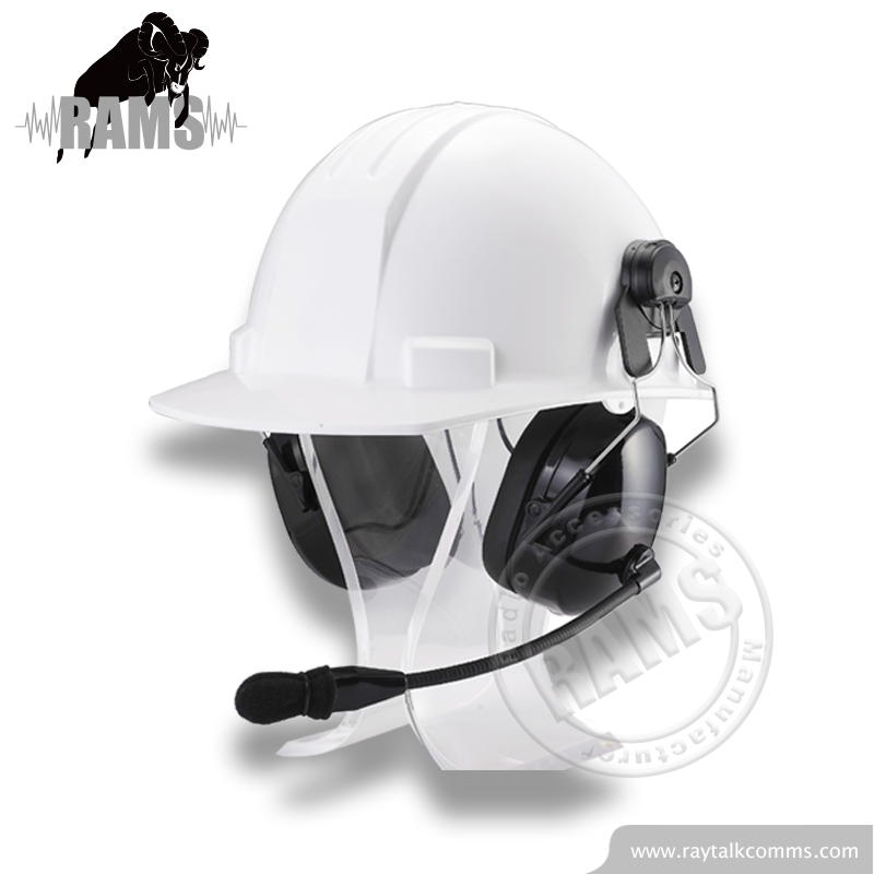 Two way radio headset helmet headset for work safety