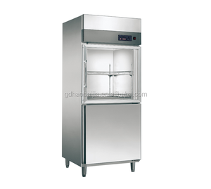 Stainless steel kitchen upright showcase chiller/freezer/refrigerator/cooler